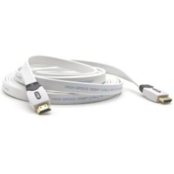 G&BL 6548 Serie HD4700 Cavo HDMI Flat 2.0 mt, Bianco