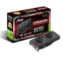 ASUS NVIDIA GeForce GTX 1060 6 GB DDR5 Expedition, EX-GTX1060-6G - A+