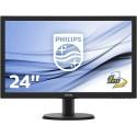 "Philips 243V5LHAB Monitor 24"" LED Full HD, Audio integrato, 1 ms, HDMI, Nero - A+"